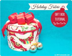 Reusable Christmas Fabric Gift Box Tutorial