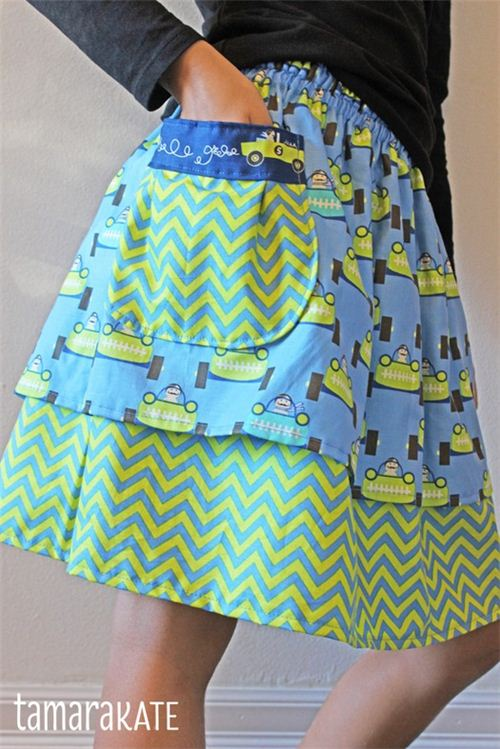 Want to sew this skirt? Tamar Kate offers a sewing tutorial