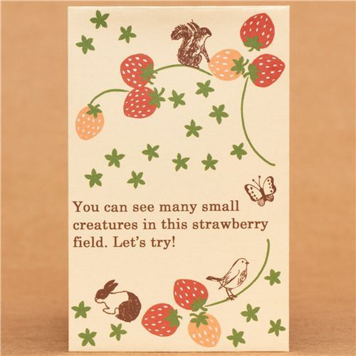 Shinzi Katoh animal and strawberry mini envelope
