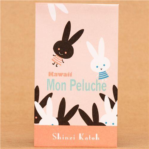 pink rabbit mini envelope set Shinzi Katoh