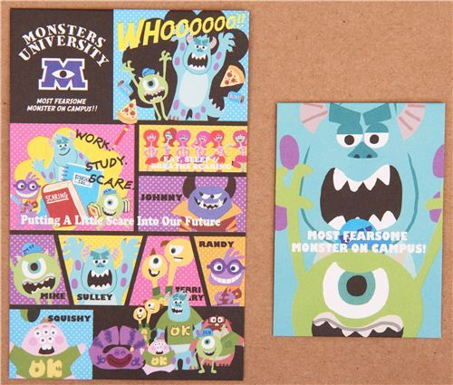 colorful Disney Monsters University mini Letter Set Japan