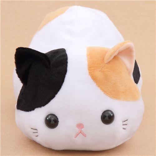big black light brown and white cat Tuchineko plush toy from Japan