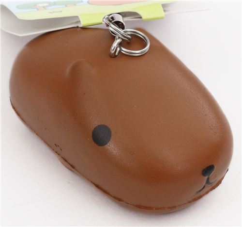 cute brown Kapibarasan bread bun squishy charm