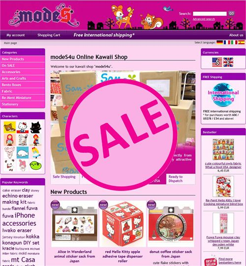 Currently you find more than 1,400 products on our sale category