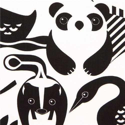 white safari animal fabric by Timeless Treasures USA