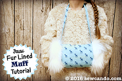 Faux Fur Muff Tutorial on Sew Can Do
