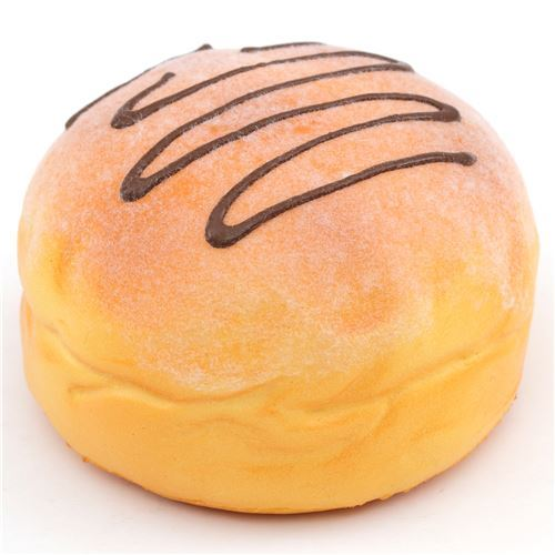cute light brown bun brown icing squishy charm cellphone charm kawaii