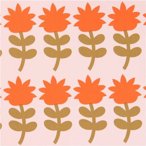 peach fabric with flower by Art Gallery Fabrics