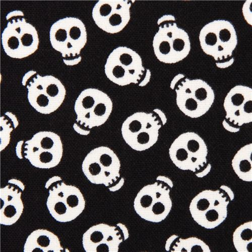black glow in the dark skull fabric glow skulls