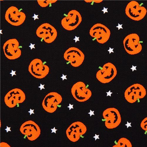 black pumpkin fabric Timeless Treasures Jack-o-Lanterns
