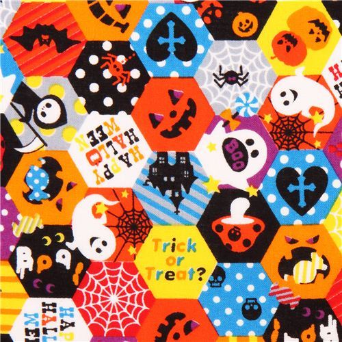 Cosmo Halloween fabric honeycomb Trick or Treat ghost