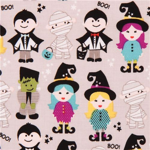 grey Riley Blake 'Halloween Parade' fabric Halloween Magic