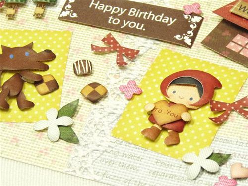 We now offer super cute 3D paper craft sets with adorable designs