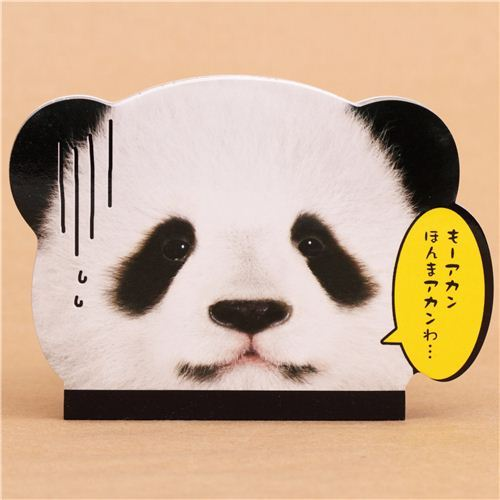 die-cut panda bear animal mini Note Pad by Q-Lia