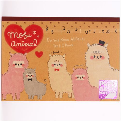 kawaii animal alpaca notebook exercise book