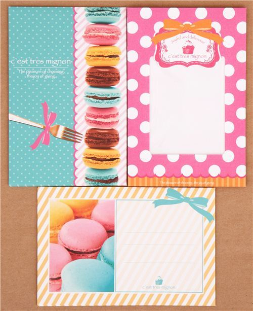 kawaii colorful macaron cake Letter Set by Q-Lia