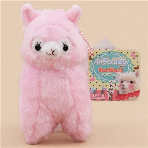 cute pink alpaca purple skirt plush toy from Japan