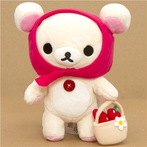 Rilakkuma plush toy white bear Little Red Riding Hood