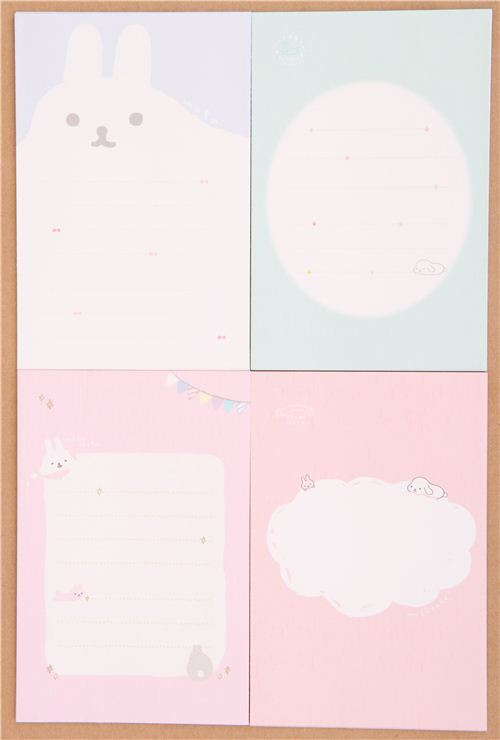 cute Mofutans small Mochi rabbits letter paper set from Japan