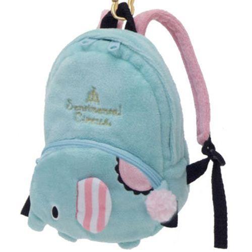 turquoise Sentimental Circus elephant plush backpack bag