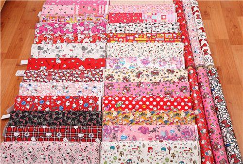 We now have Hello Kitty fabrics, My Melody fabrics and Little Twin Stars fabrics