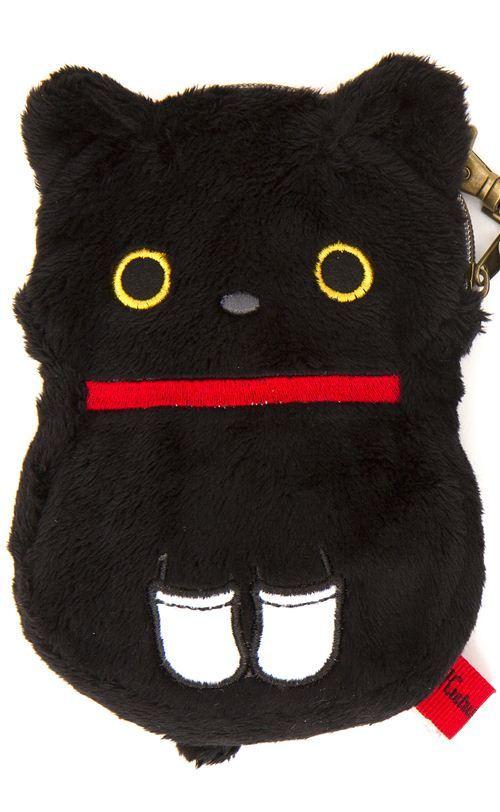 Kutusita Nyanko cat plush pouch wallet