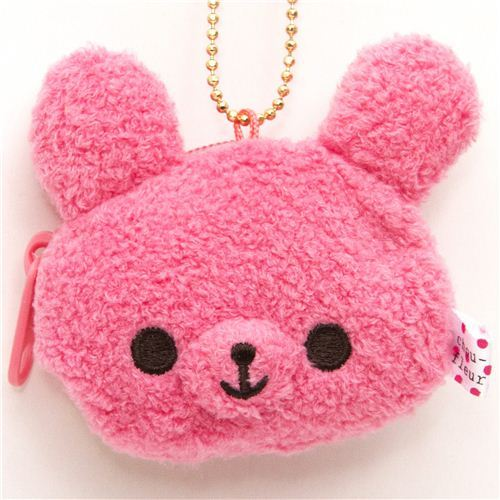 cute Chou-fleur pink rabbit plush cellphone charm