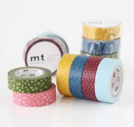 New Wamon Washi Masking tapes in traditional Kyoto style