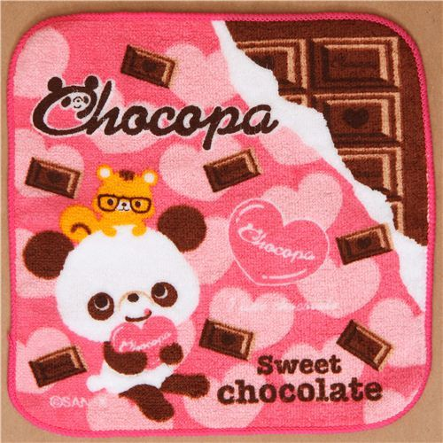 cute Chocopa bear towel chocolate hearts from Japan
