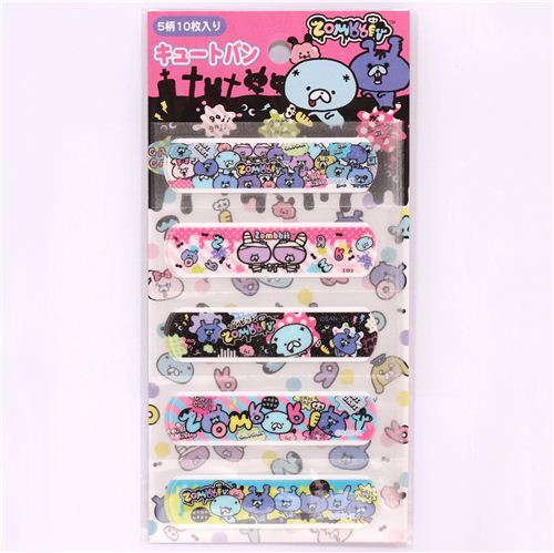Zombbit zombie animals glitter Bandage Band-Aids 10 pcs