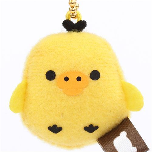 cute Rilakkuma Kiiroitori chick plush charm