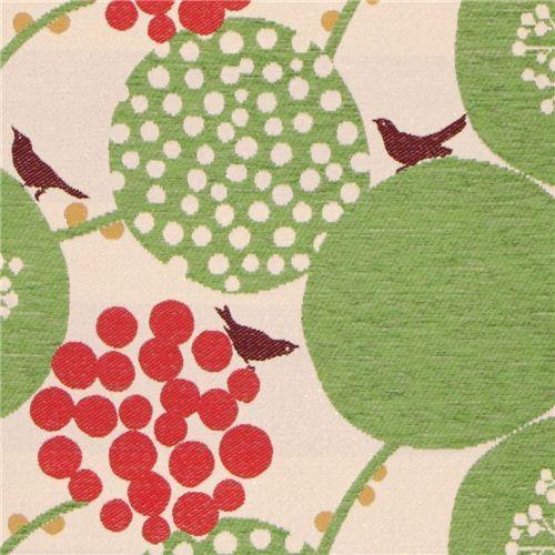 big berry Jacquard echino fabric green from Japan