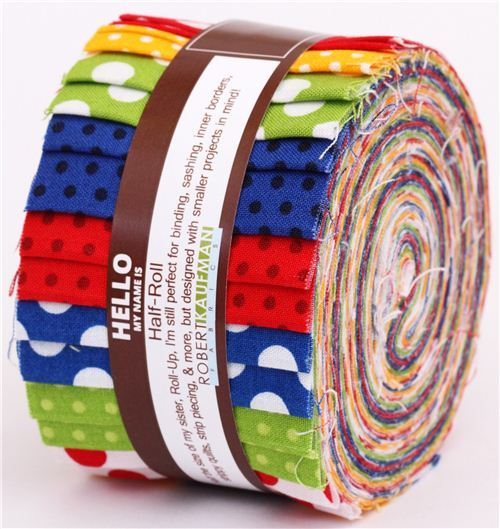 Half-Roll fabric roll Primary Perfection Robert Kaufman