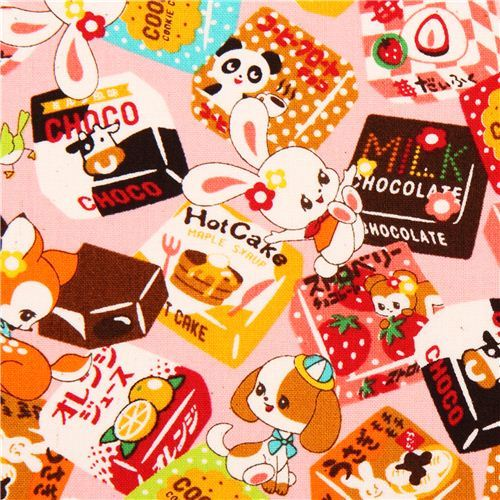 kawaii pink Cosmo animal fabric sweets Japan