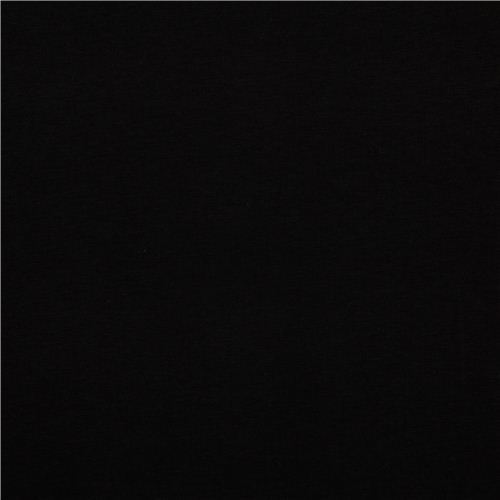 solid black Robert Kaufman knit fabric onyx