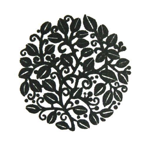 beautiful leaves stamp handmade