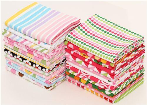 Fat Quarter fabric bundle Ann Kelle pale pink Robert Kaufman