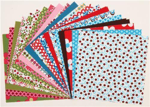 organic fabric bundle flowers Ten-Square Robert Kaufman