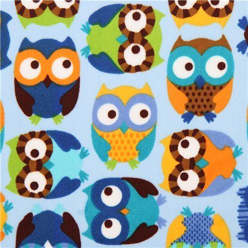 owl minky fabric fleece plush Timeless Treasures