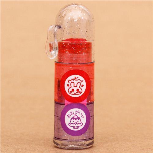 cute rabbit pudding flan stamp pen mini stamp set