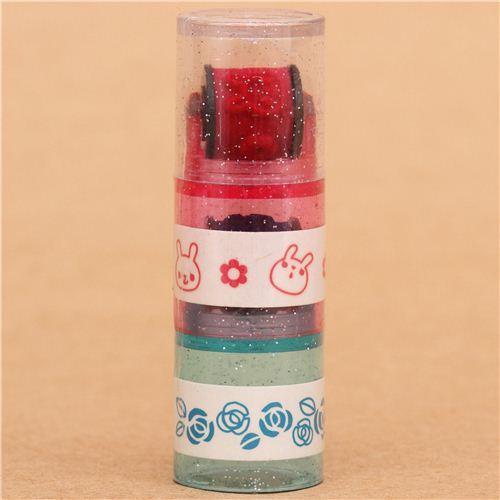 rabbit rose flower roller stamp pen rolling stamp