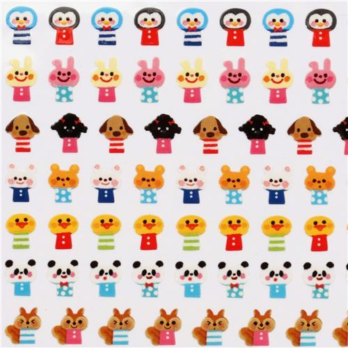 small animal stickers Wonderful Friends Japan