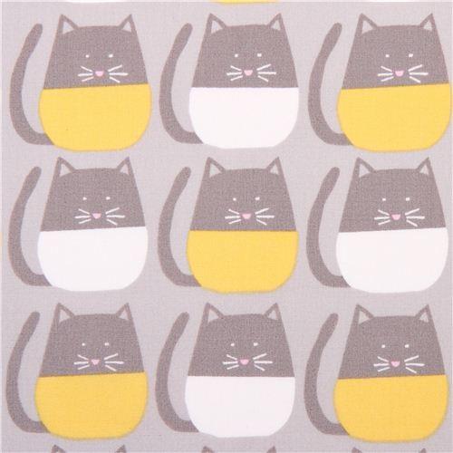 grey monaluna organic cat fabric Meow