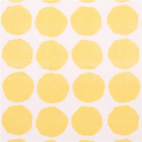 white monaluna yellow dots organic fabric dot