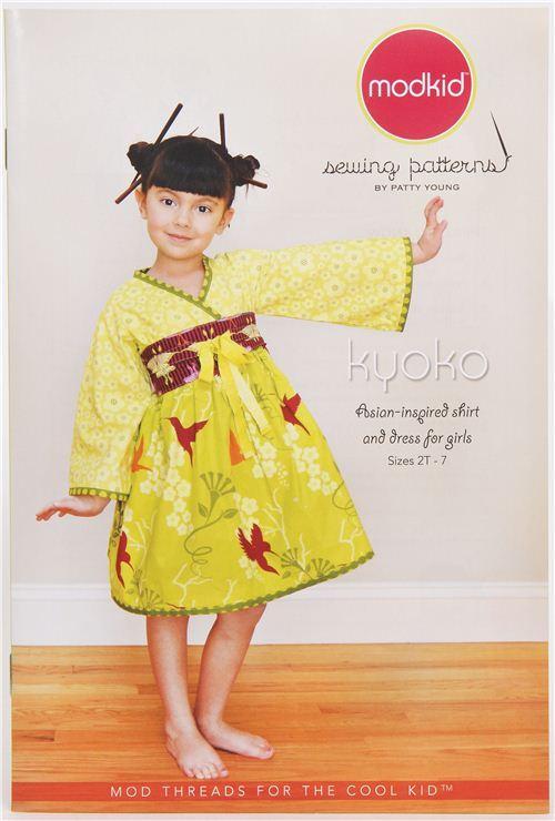 Japanese children skirt & dress sewing pattern Kyoko Modkid