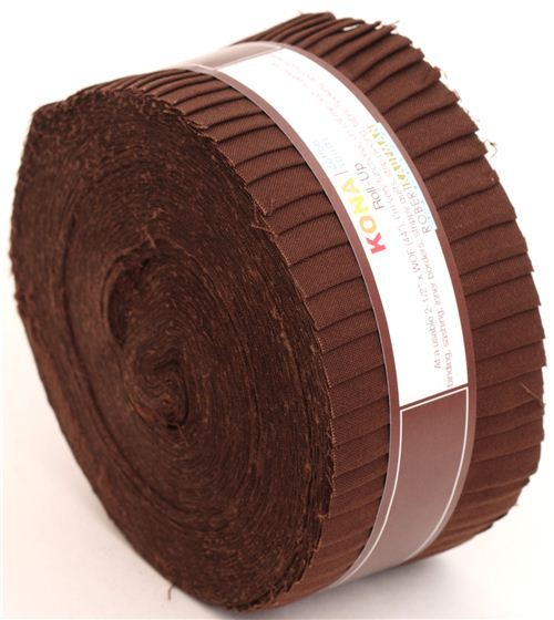 Roll-up fabric bundle roll Coffee brown Robert Kaufman USA