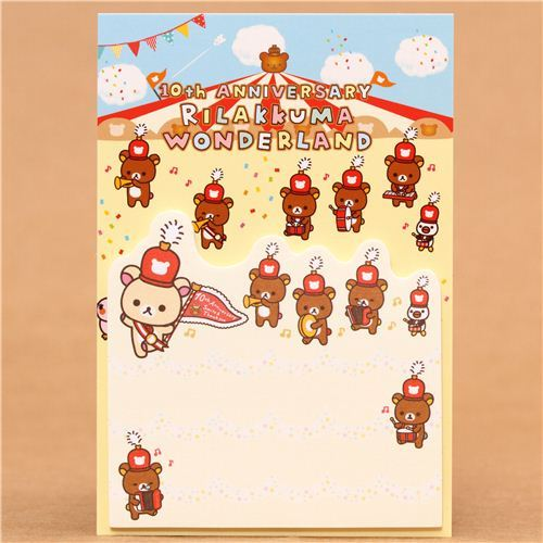 Rilakkuma Wonderland bear band Post-it bookmark sticker