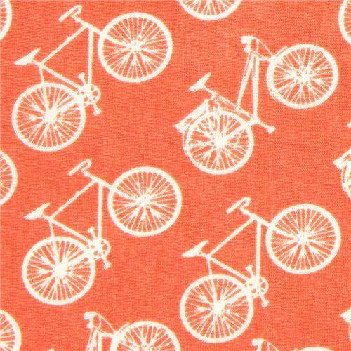 coral birch bike organic fabric from the USA