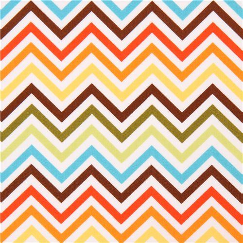 Robert Kaufman thin zig zag chevron fabric dark brown light green Remix