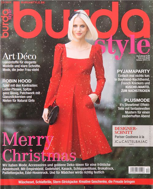Our fabric is Fabric of the Month in the December issue of German magazine burdastyle